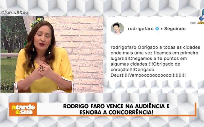 ec1bde6395 Sonia Abrão critica atitude de Rodrigo Faro